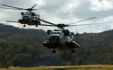 Free Two Ch 53d Sea Stallion Helicopters Wide
