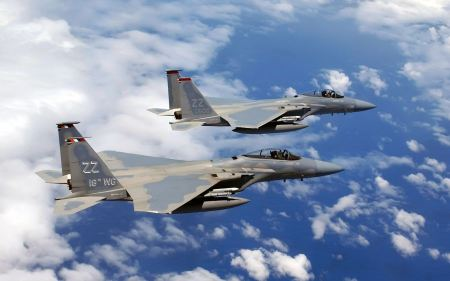Free F 15c Eagles Flies Over Okinawa Wide