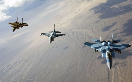 Free F 15 Eagles And F 16 Fighting Falcon Wide
