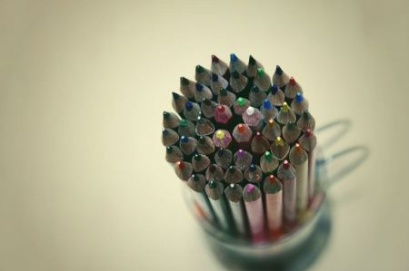 Free Color Pencils In A Pen Holder