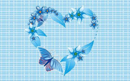 Free Blue Flowers Heart