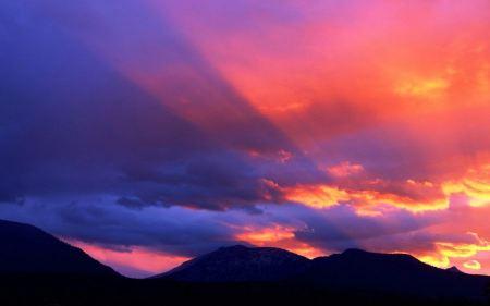Free Orange and Purple Sky