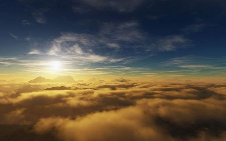Free Sun Over the Clouds