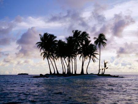 Free Truk Micronesia at Sundown