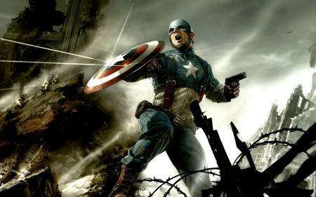 Free Captain America Battle Scene Wallpaper