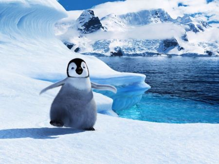 Free Baby Mumble in Happy Feet 2 Wallpaper