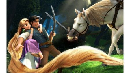 Free Rapunzel Flynn and Horse in Tangled