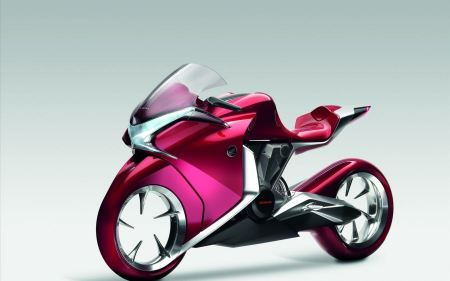 Free Honda V4 Concept Widescreen Bike Wide