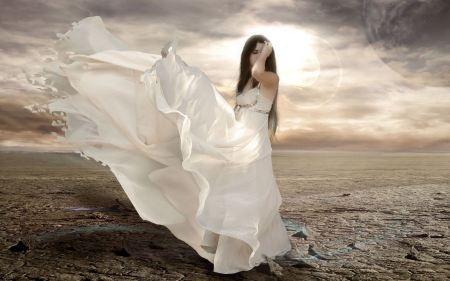 Free Fantasy Girl in Flowing White Dress