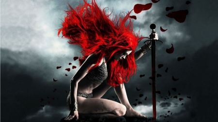 Free Red Hair Warrior Girl