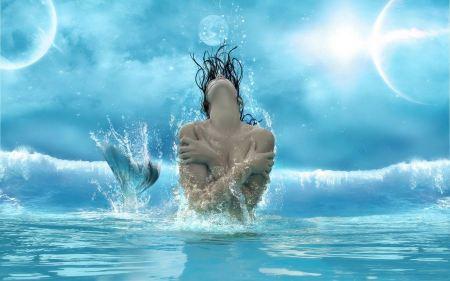 Free Beautiful Splashing Mermaid