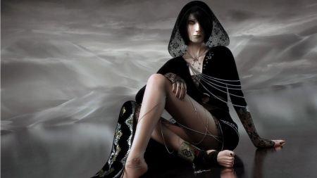 Free Beautiful Woman in Black Hood