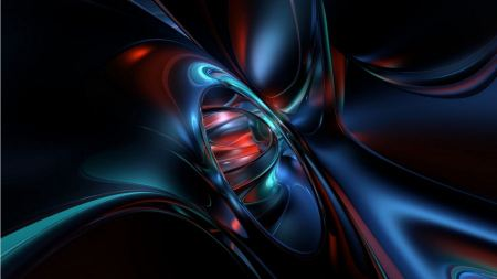 Free Blue & Red Digital Abstract