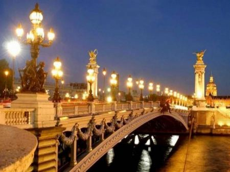 Free Paris In Night Widescreen Hd Wallpaper