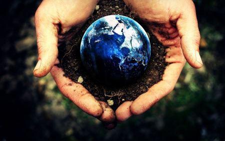 Free Blue Hands Earth Digital Art Roots