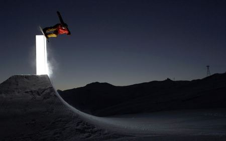 Free Glowing Snowboard Session