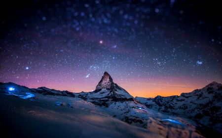 Free Mountains Stars Tilt Shift Space