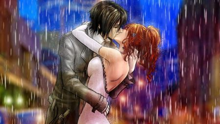 Free Anime Couple Kiss