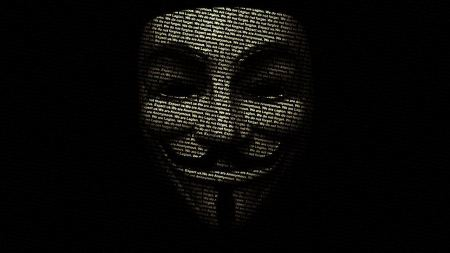 Free Anonymous Guy Fawkes V for Vendetta black background