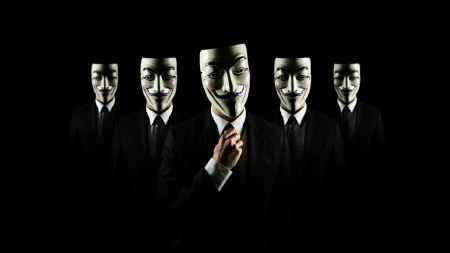 Free Anonymous suit tie Guy Fawkes hackers V for Vendetta black backgr