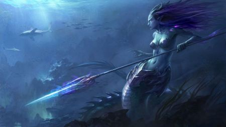 Free Purple Mermaid Warrior