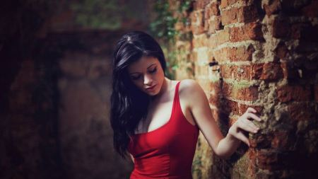 Free Woman in Red Tanktop
