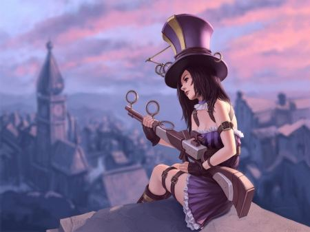 Free Steampunk League Of Legends Caitlyn