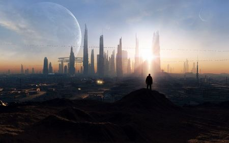 Free Futuristic City Skyline