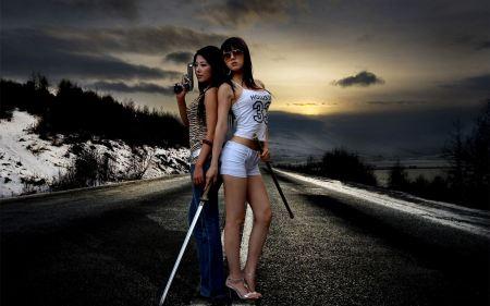 Free Asian Sword-Wielding Woman