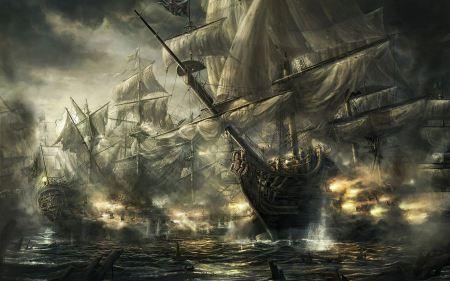 Free Ships Fantasy The Battle Of Trafalgar
