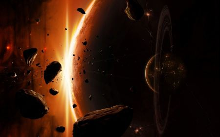 Free Outer Space Planets Digital Art Asteroids