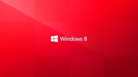 Free Windows 8 Metro Red Wallpaper
