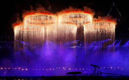 Free London Olympics Opening Ceremony Rings Fireworks