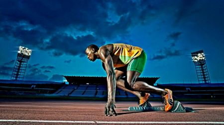 Free Usain Bolt Preparing to Bolt