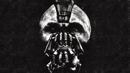 Free Black and White Bane Face Batman: The Dark Knight Rises