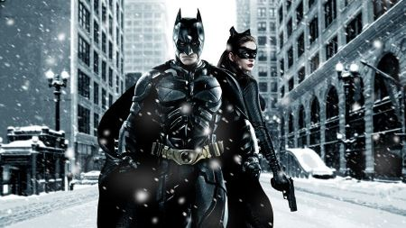 Free Batman And Catwoman in Snowy Gotham City The Dark Knight Rises