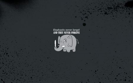 Free Funny Typography Minimalistic Humor Elephants Never Forget Never