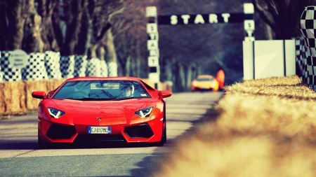Free Orange Lamborghini Aventador Lp7004 Racing Car Automotive Automob