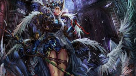 Free Anime Woman in Feathers
