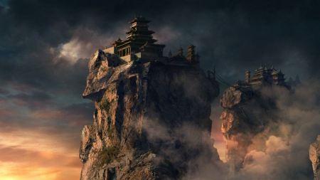 Free Fantasy Dark Mountain Castles