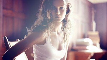 Free Brunette Girl in White Tank Top