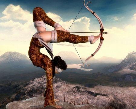 Free Fantasy Art Flexible Girl With Bow