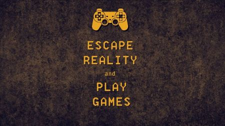 Free Minimal Typography Escape Reality Simple Games Controller Keep Ca