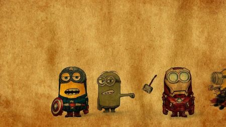 Free Avengers Cartoon Animation Minions Thor Captain America The Hulk