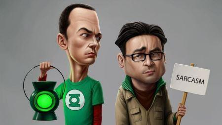Free Green Lantern Funny The Big Bang Theory Caricature Jim Parsons Sh