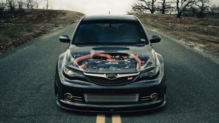 Free Black Subaru Impreza Sti Transparent Engine Cover