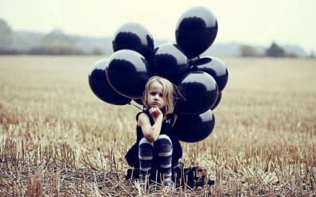 Free Child with Balloons