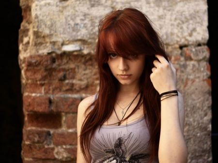 Free Redheads Girl with Bangs