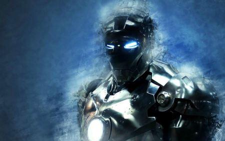 Free Blue Iron Man 3 Wallpaper