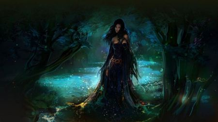 Free Ethereal Princess in Dark Forest